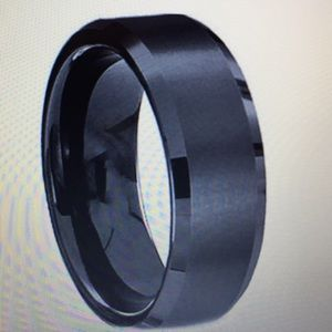 8MM Black stainless steel titanium size 11